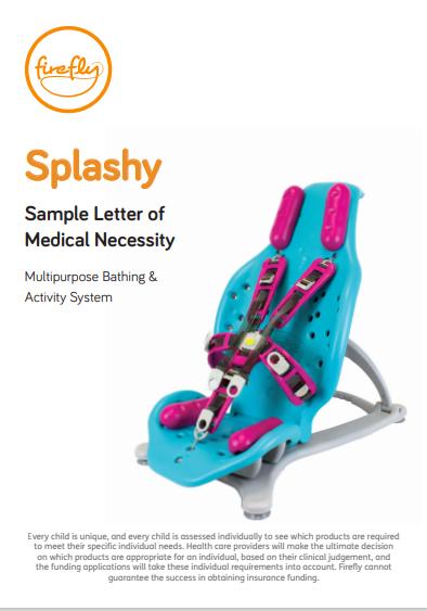 Splashy Letter of Medical Necessity