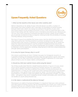 Upsee FAQ's