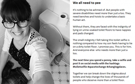 Why I Took a Photo of Myself Sitting on the Loo… and Posted it on the Internet!